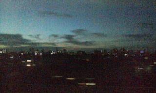 本日の夕空